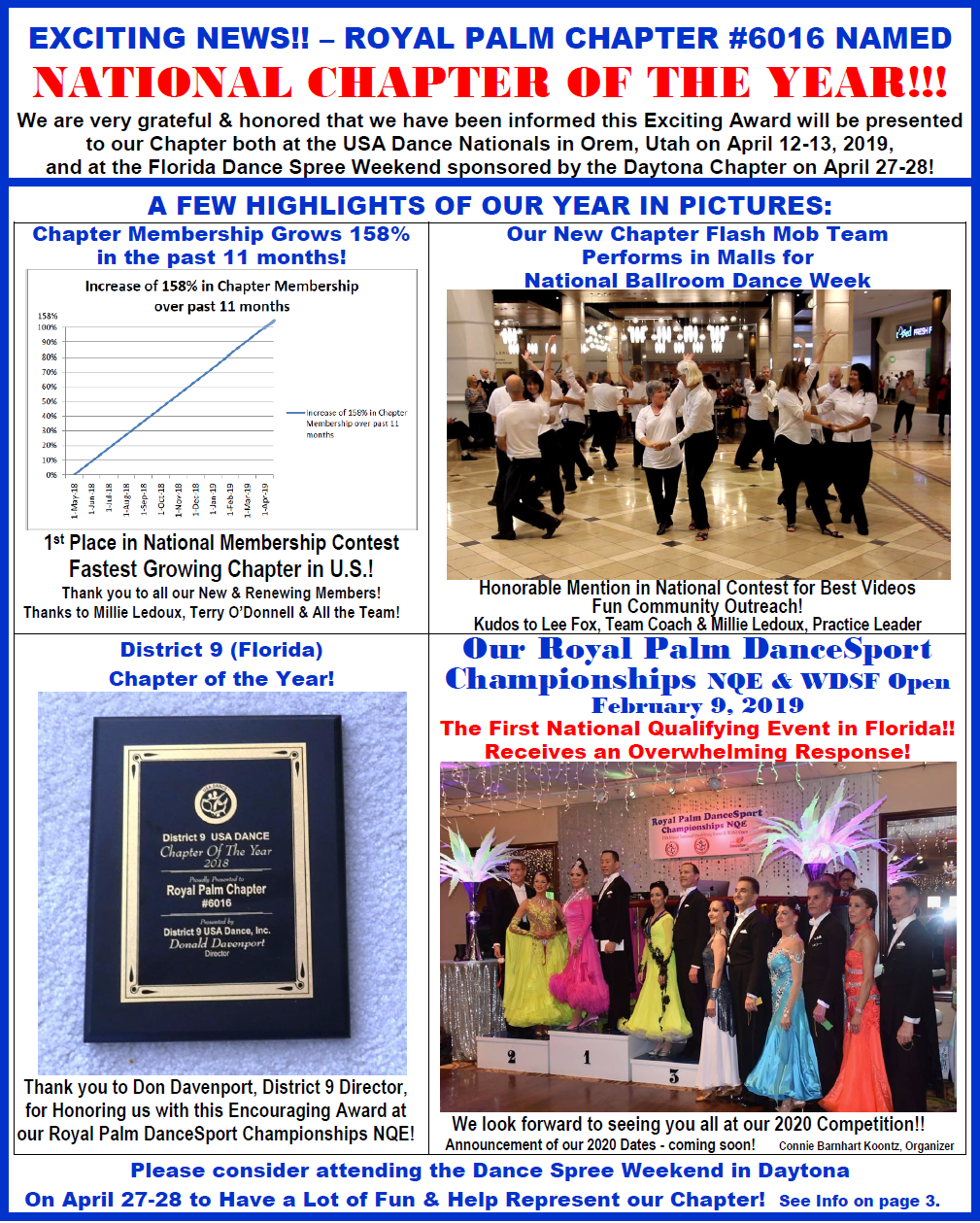 USA Dance, Royal Palm Chapter # 6016 Newsletter - April, 2019