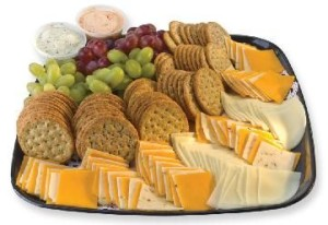 Crackers & Cheese with Grapes