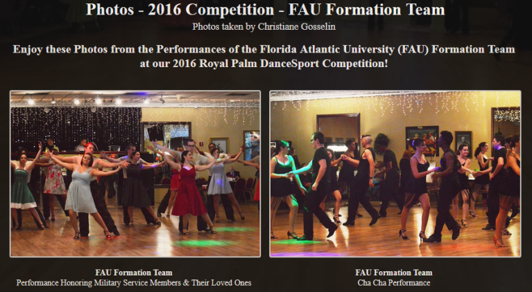 Photos – 2016 Competition – FAU Formation Team
