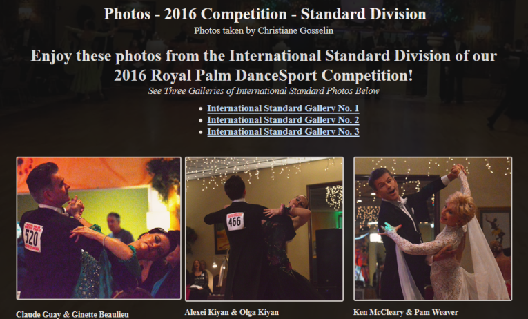 Photos – 2016 Competition – Standard Division