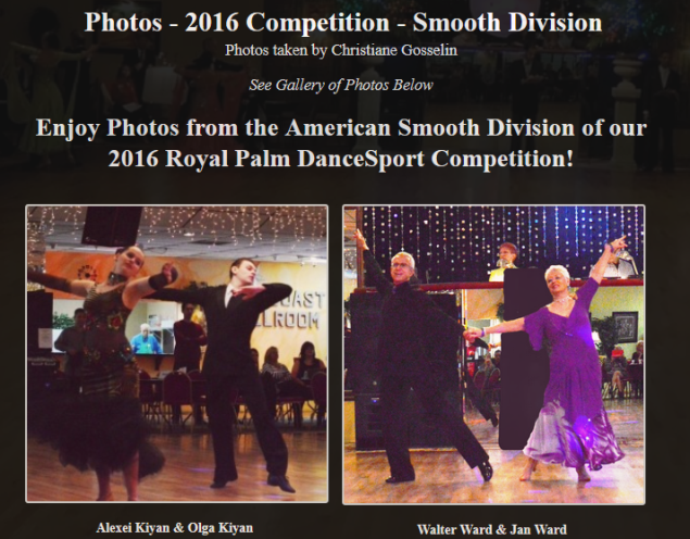 Photos – 2016 Competition – Smooth Division