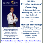 Private Lessons & Master Workshop with World Champion Glenn Weiss!!! – January 29 – 31 – Sign Up Now!! – First Come – First Serve