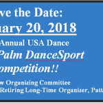 Save the Date!! – January 20, 2018 –  Next Annual USA Dance RoyalPalm DanceSport Competition!! – John Rannella, Organizer