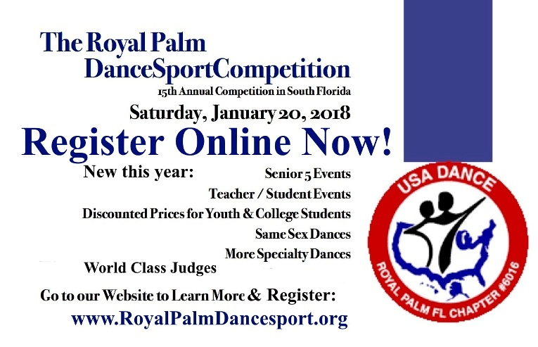 2018 Royal Palm Dancesport Competition - Online Registration Now Open