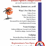 New at the 2018 Royal Palm Dancesport Competition