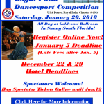 Final Registration Deadline: January 12, 2018 – Purchase Spectator Tickets at the door on January 20