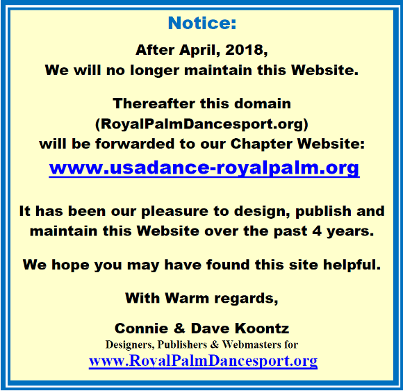 This Website will Not be Maintained after April, 2018