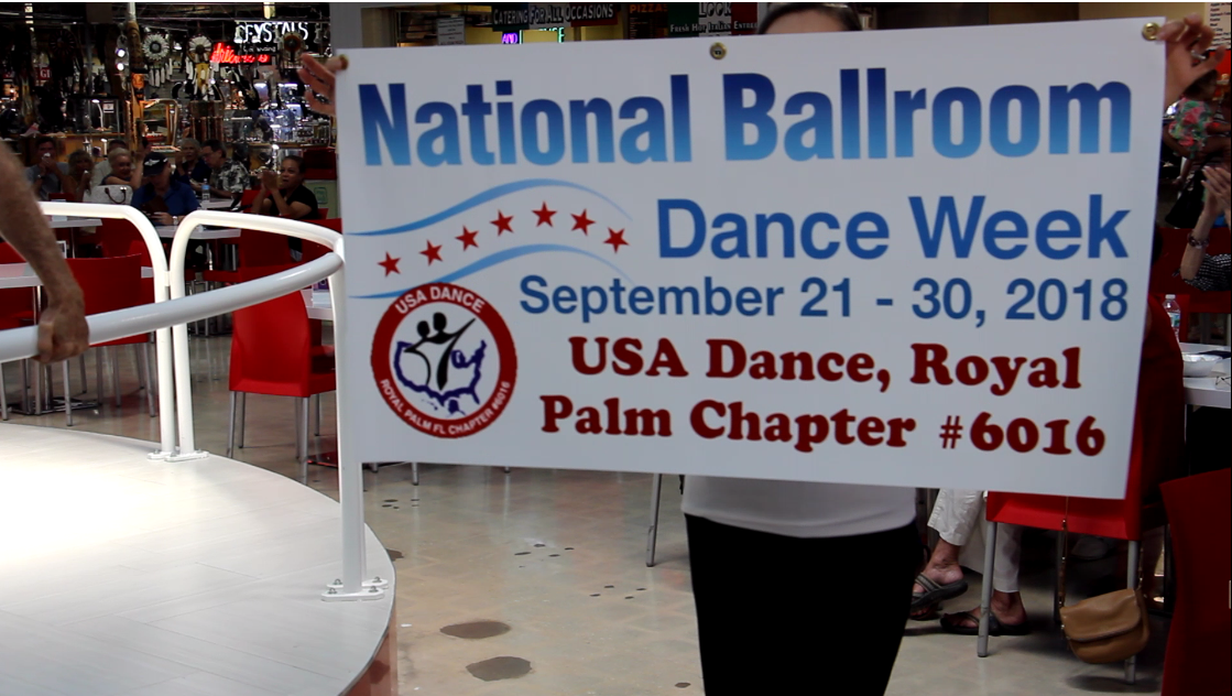 Image 1: USA Dance, Royal Palm Chapter # 6016 - Brings the Joy of Ballroom Dance to Festival Marketplace - Sept 22, 2018 - for National Ballroom Dance Week