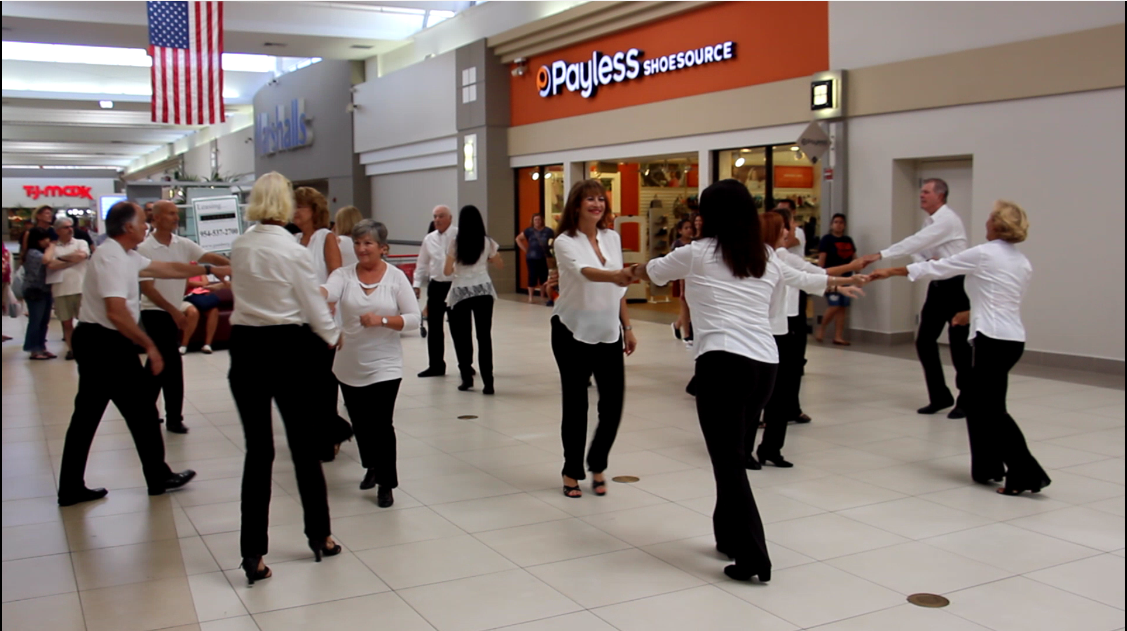 USA Dance, Royal Palm Chapter # 6016 Flash Mob Team performs at the Coral Ridge Mall Fort Lauderdale - September 22, 2018