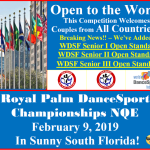 Breaking News!! – We have Added WDSF Senior I, II, and III Open Standard Events!!