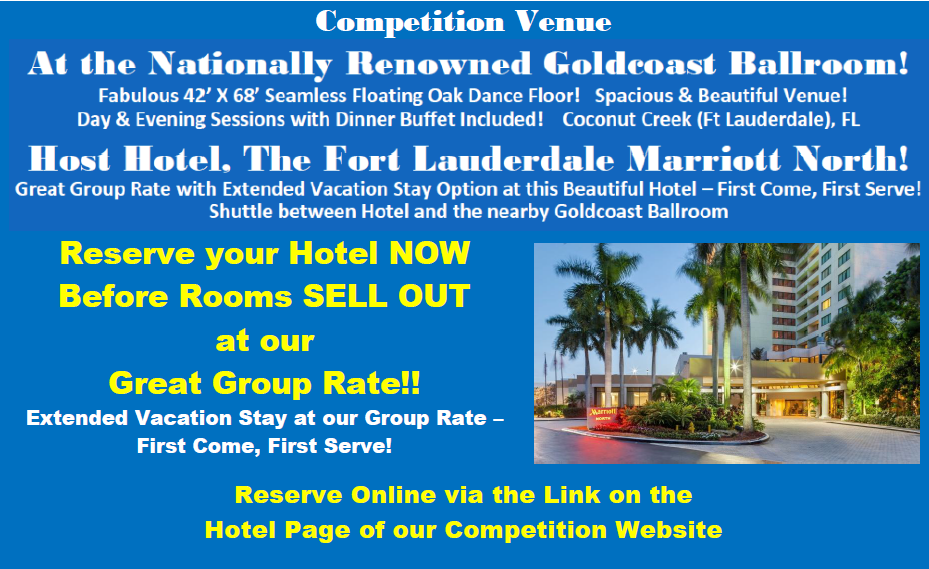 Make your Hotel Reservations Now before Rooms SELL OUT at our Group Rate!