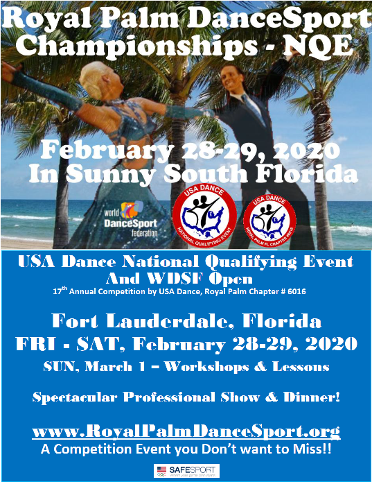 Save the Dates for our Next Competition! – February 28-29, 2020!!