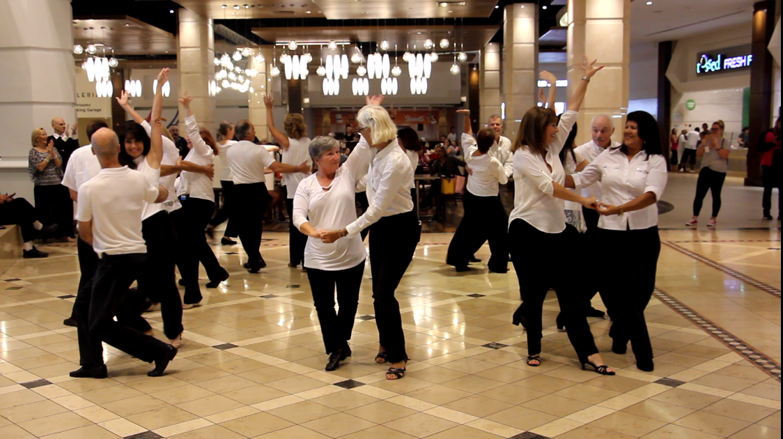 Our 2018 Royal Palm Chapter Flash Mob Formation Team Performing at Galleria Mall, Fort Lauderdale!