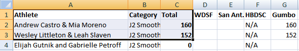 Junior II Smooth - Excel - July 1, 2019