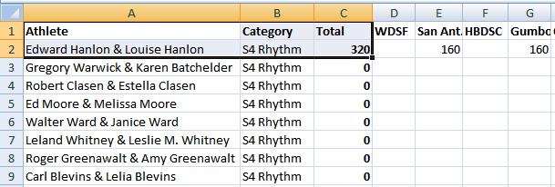 Senior IV Rhythm - Excel - July 1, 2019