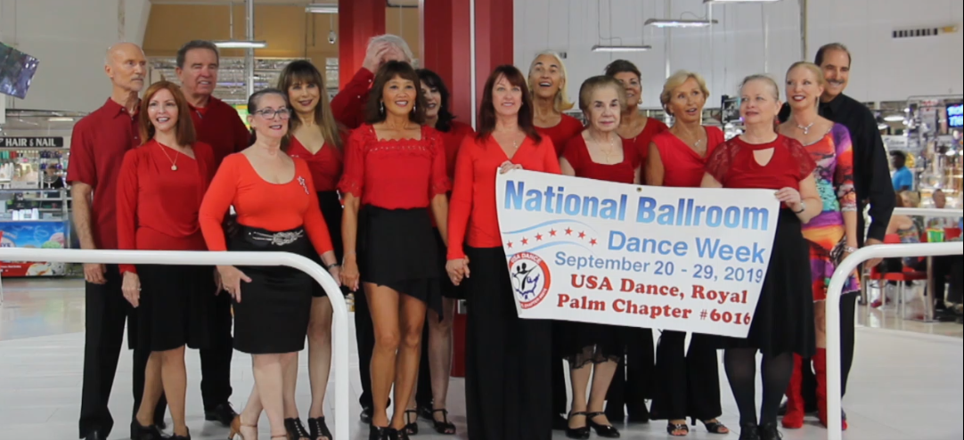 Royal Palm Chapter 2019 Flash Mob Team & Showcase Dancers at Festival Marketplace Mall - September 21, 2019