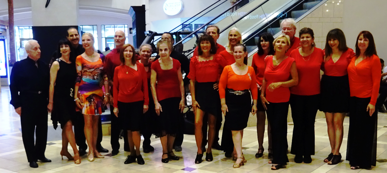 Royal Palm Chapter 2019 Flash Mob Team & Showcase Dancers at The Galleria Mall - September 21, 2019