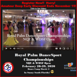 Video from our 2019 Competition! – Register Now for 2020 Royal Palm DanceSport Championships NQE & WDSF Open!