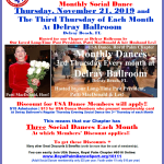 Don't Miss Our November Chapter Social Dances! – Tuesday, November 12 at Goldcoast Ballroom, Coconut Creek, FL — Thursday, November 21 at The Delray Ballroom, Delray Beach, FL —  Saturday, November 23 at Star Ballroom, Pompano Beach, FL