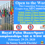 Open to the World!! – More WDSF Open Events than Last Competition!!
