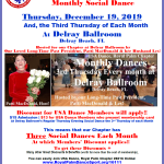 Don't Miss Our December Chapter Social Dances! – Tuesday, December 10 at Goldcoast Ballroom, Coconut Creek, FL — Thursday, December 19 at The Delray Ballroom, Delray Beach, FL —  Saturday, December 28 at Star Ballroom, Pompano Beach, FL