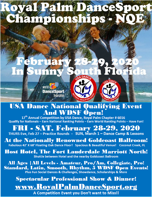 Register NOW for our Next Competition! - February 28-29, 2020!!