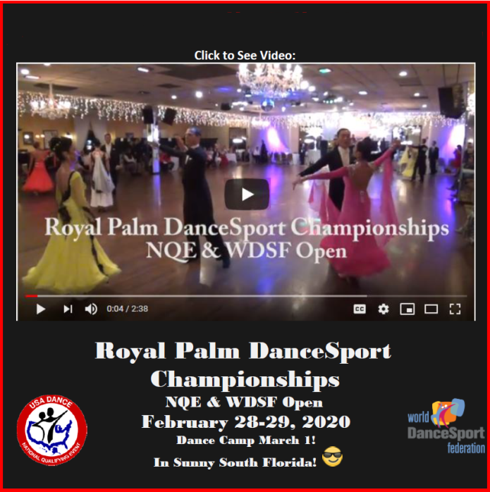 Video from Royal Palm DanceSport Championships NQE & WDSF Open!!