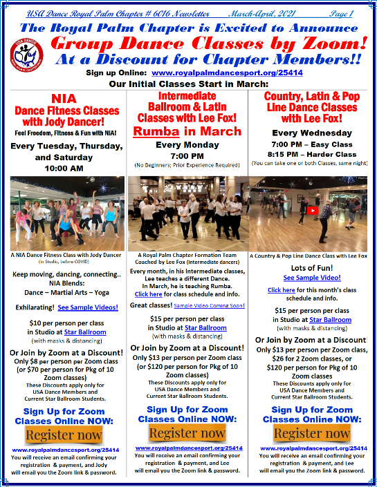 March-April, 2021 Royal Palm Chapter News & Activities