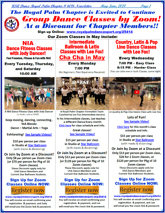 Royal Palm Chapter May-June, 2021 Newsletter