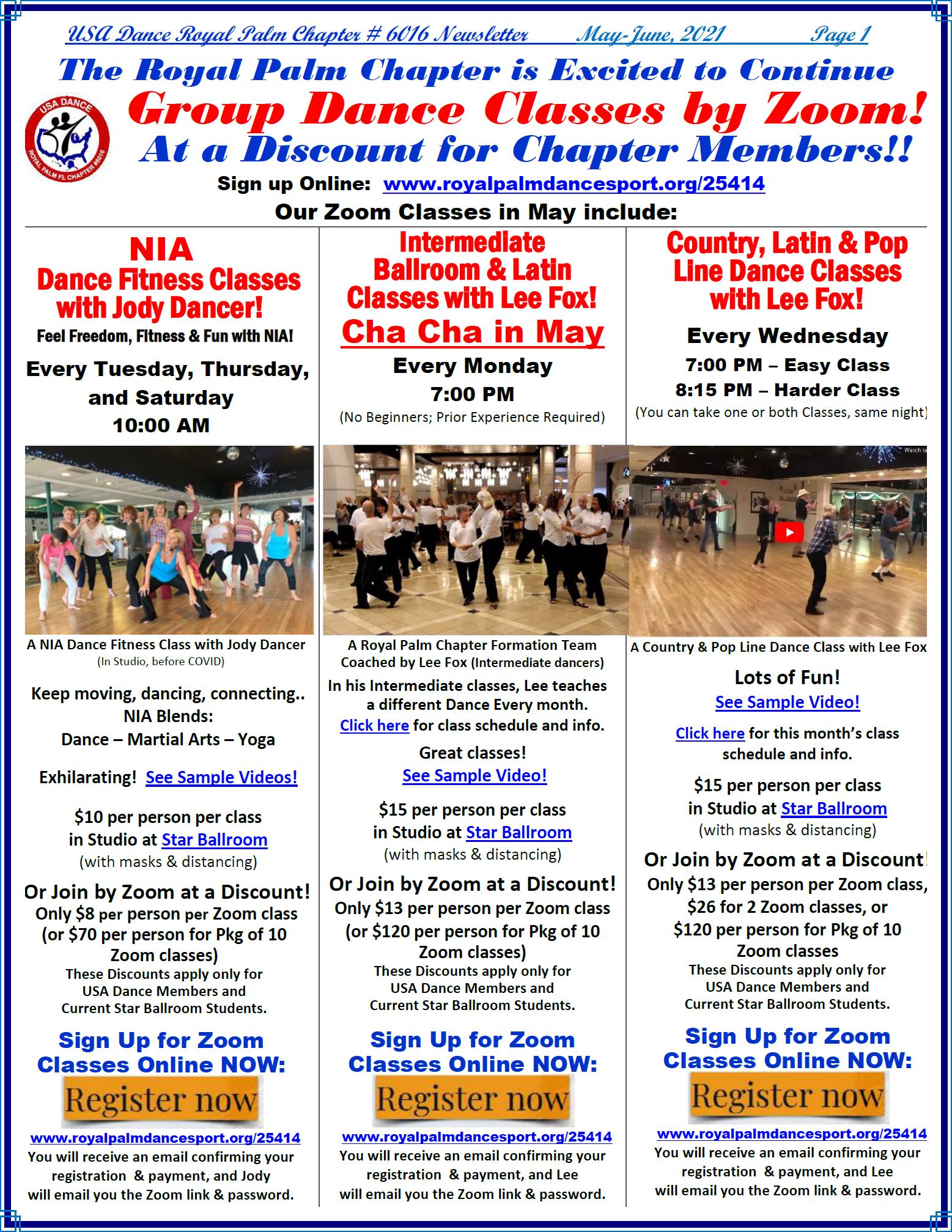 Royal Palm Chapter May-June, 2021 Newsletter - Page 1