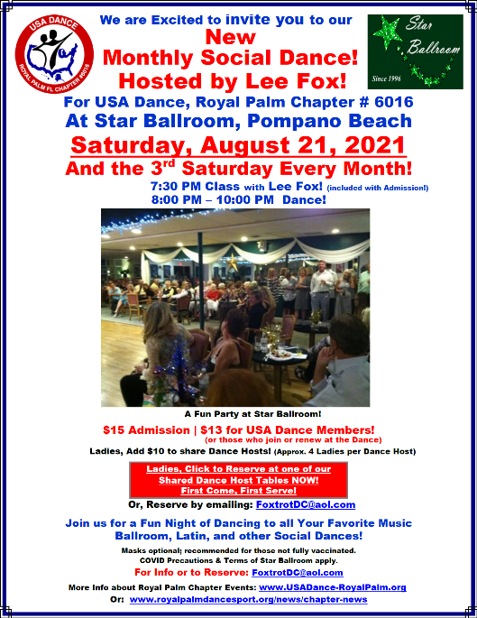 July-August, 2021 Royal Palm Chapter News & Activities