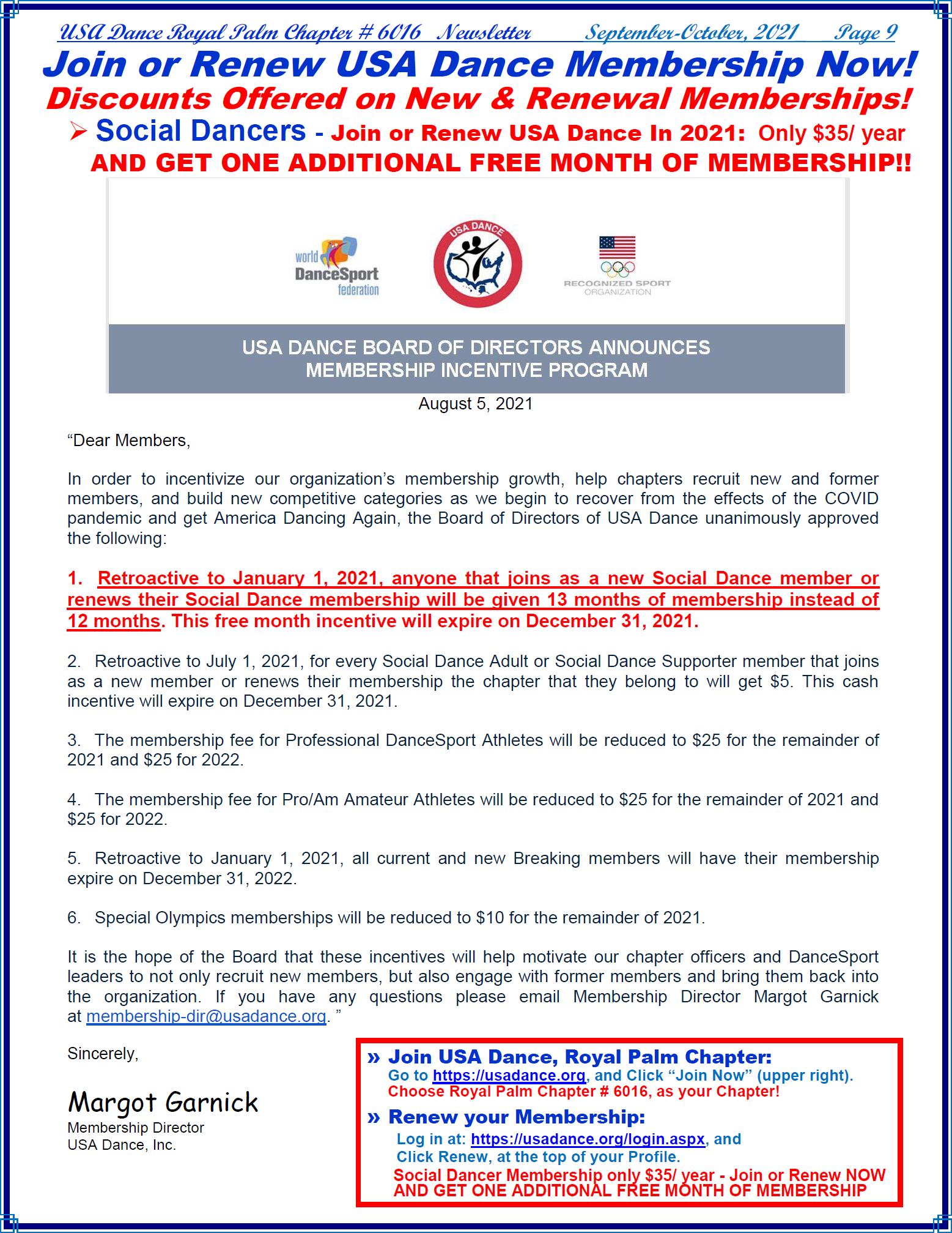 Renew Your Membership & Get FREE Month Now!